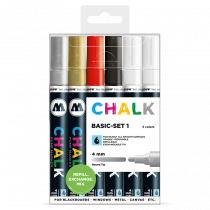 CHALK křídový fix Basic-Set 1 (4 mm)