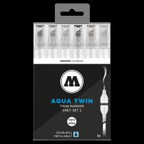 AQUA TWIN Grey-Set 2