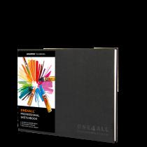 ONE4ALL™ Profesionální sketchbook DIN A4 (na šířku)