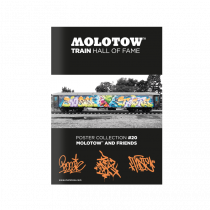 "MOLOTOW™ TRAIN HALL OF FAME Poster Collection #20 ""MOLOTOW™ AND FRIENDS"""