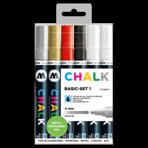 CHALK křídový fix Basic-Set 1 (4 mm)