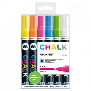 CHALK křídový fix Neon-Set (4 mm)