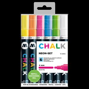 CHALK křídový fix Neon-Set (4 mm)