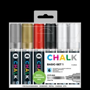 CHALK křídový fix Basic Set 1 (4-8 mm)