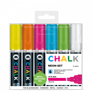 CHALK křídový fix Neon-Set (4-8 mm)