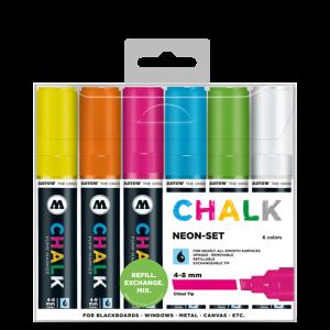 CHALK křídový fix Neon-Set (4-8 mm)