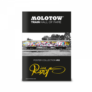 """MOLOTOW™ Train Poster #12 """"RAZOR"""""""